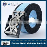 promotional custom men polyester grosgrain ribbon belt