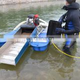 River mining equipment gold dredging boat for sale