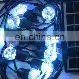 10m color changing outdoor waterproof garland decorative copper wire bulbs with solar powered outdoor string lights