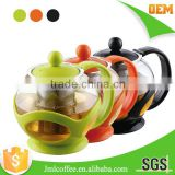 Stainless steel tea pot , Colorful Tea brewer ,Stainless steel tea 304# filter ,various color