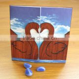 Ideal Products 2015 Perching Birds Folded Wooden Custom Invitation Cards