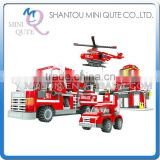 Mini Qute DIY Fire fighting truck vehicle center action figures plastic cube building blocks bricks educational toy NO.21901