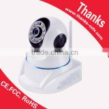 Plug and Play 720P P/T wifi IP camera, smart home security wireless IP camera baby monitor with P2P and SD card