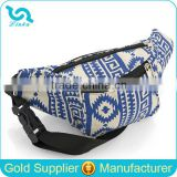 Hot Sale Blue Aztec Canvas Waist Bag Fanny Pack Wholesale On Amazon