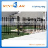 Solar Module Racking PVC coating solar panel bracket pv kits fence for ground solar sturcture