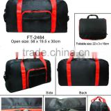 High quality neswest hot sale promotional Foldable Travel Bag Black red color polyester special price