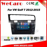 "Wecaro WC-VG8012 8"" 2 din android 5.1.1 dvd for vw golf 7 2013 2014 2015 car multimedia system navigation dvd player"