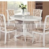 oval round extendable white lacquer dining table                                                                         Quality Choice