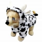Shorn Velvet and Rod Cotton Double Layer Autumn Winter Milk Cow Shape Dog Clothes Pet Garment