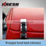 High quality 4x4 SUV stainless steel chrome engine silver stainless steel hood latches, SUV car hood latch for off-road vehicle