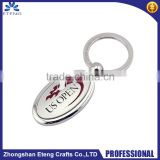Advertising fashion custom logo metal keychain,DIY zinc alloy keychain