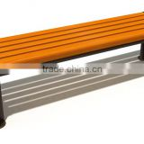 2016 new Wood with Frame Garden Park Leisure Bench, with Back and Armrest chair