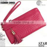 hot sale fashion different colors leather clutch bag