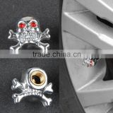 Sliver Universal Fancy Pirate Skull Tire Tyre Air Valve Stem Caps for Auto Car Truck Motorcycle Bike Wheel Rims