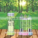 bpa free sports borosilicate glass bottle glass water bottle with tea infuser private label infusion water bottle 2015