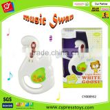 NEW swan baby rattle toy for kids musical instrument