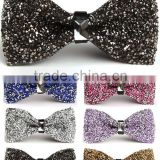 Laides Mens Newest Fashion Silk Satin Neck Bow Tie Solid Colour Pre Tied Wholesale Bow Tie for decoration BOT2017