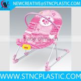 polyester peach skin,Metal Material and Chair Type baby bouncer vibrating
