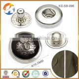Beautiful Metal Snap Button Chef Coat Custom Logo                                                                         Quality Choice
