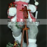XM-SA019B 26 inch Polar bear ridding rocking horse for christmas decoration