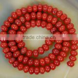 Wholesale gemstone red jasper button jewelry beads