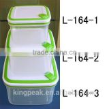 2015 Hot Sale Plastic food storage container/microwave safe food container/Bento Lunch box/Transparent plastic storage container