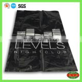 shock resistant PE black garbage packing bag , rubbish bag with custom logo