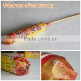 2 or 4 hours handhold wax bamboo tiki torch for hotel lighting