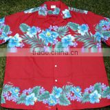 closeure position design on the front Men's Hawaiian shirts