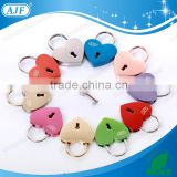 AJF TUV TEST PASSED Top quality and hot sale high polished metal Love lock or padlock in heart shape with engraving names                                                                         Quality Choice