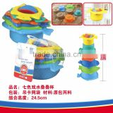 Newest plastic Animal folding cup,Baby educational toy stacking cup and nesting toy Folding cups, stack up cups beach set