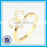 Cheap wholesale butterfly napkin ring handmade crystal gold butterfly ring