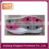 2016 New Mould Lady Size Golf Shoe Sole With Removable Cleats Spkie Cheap Price
