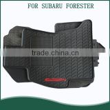 PVC Latex foot mat Car Floor Mats for Subaru Forester Complete Set (Black)