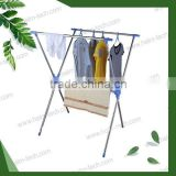 Stainless steel X-shape drying clothes rack