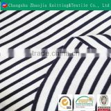 Trustworthy supplier custom 100% cotton yarn dyed printed black and white stripe curtain fabric