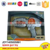Plastic kid toy space gun set Newest kid electric plastic space toy gun child gun with light and sound