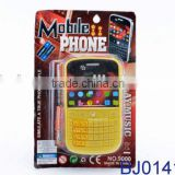 Kids plastic mobile phone toy cheap yellow berry mobile toy