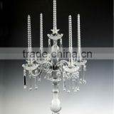 5 arms exquisite Crystal Candelabras for Glass Wedding Decoration & Table centerpieces wholesale                                                                         Quality Choice