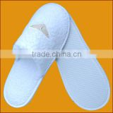 Promotion fashion cotton embroidery terry bathroom slippers