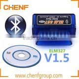 Newest Arrived High Quality Mini Bluetooth OBD2 OBDII ELM327 A Interface Auto Diagnose Scanner Auto Scan tool