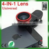 New model mobile phone lens 4 in 1 for mobile phone black/sliver/red/gold/purple/blue