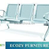 Metal public Seating chair for waiting room, public waiting bench chair