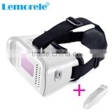 Most hot VR BOX Virtual Reality Headset goggles 3D glasses with bluetooth wireless remote control,custom branded