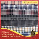 china supplier plain yarn dyed flannel check stock lot fabric for ready stock