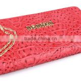 Hot fashion crocodile grainl purse , leather wallet ,women purse alibaba china direct factory
