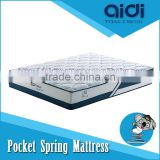 Luxurious Pocket Spring Dunlop Latex High Density Foam Sponge Mattress With High Quality Coolmax Fabric