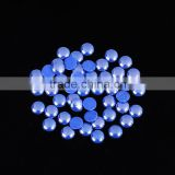 new coming 5 mm sapphire blue color resist high temperature ceramic pearl beads for garment accessory