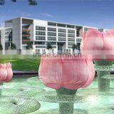 glass lotus and art glass project xo-70001 and glass sculpture and outdoor glass decoration