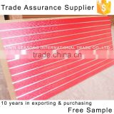 Trade Assurance 15*1220*2440mm wood grain mdf slatwall panels plastic profile aluminium profile